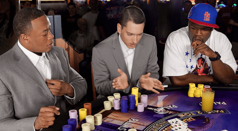 Celebrity in a casino - 50 Cent