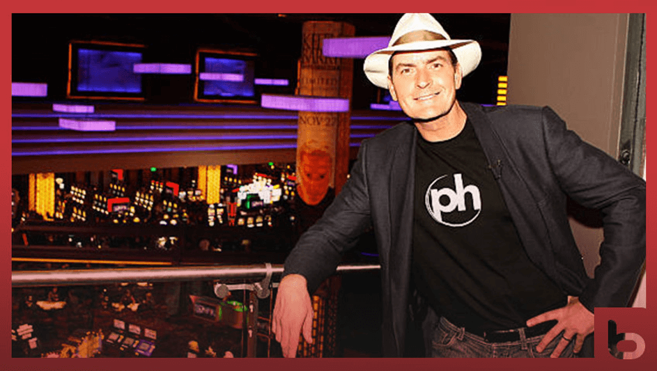 Celebrity in a casino - Charlie Sheen