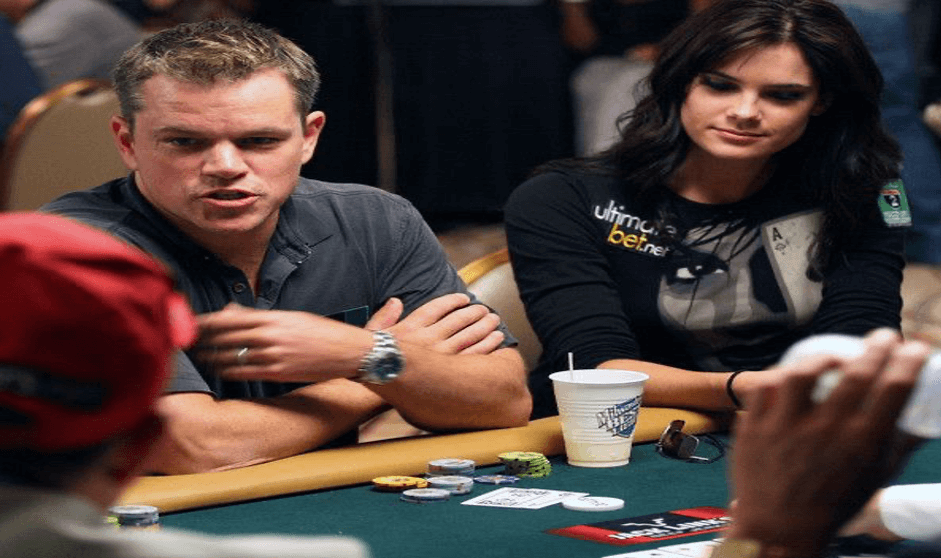 Celebrity in a casino - Matt Damon