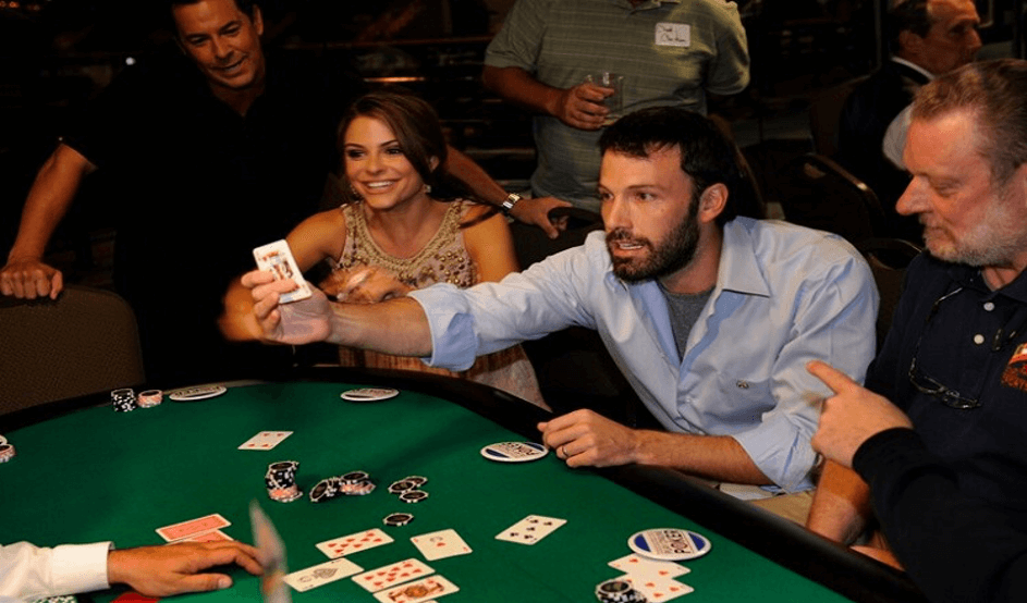 Celebrity in a casino - Ben Affleck
