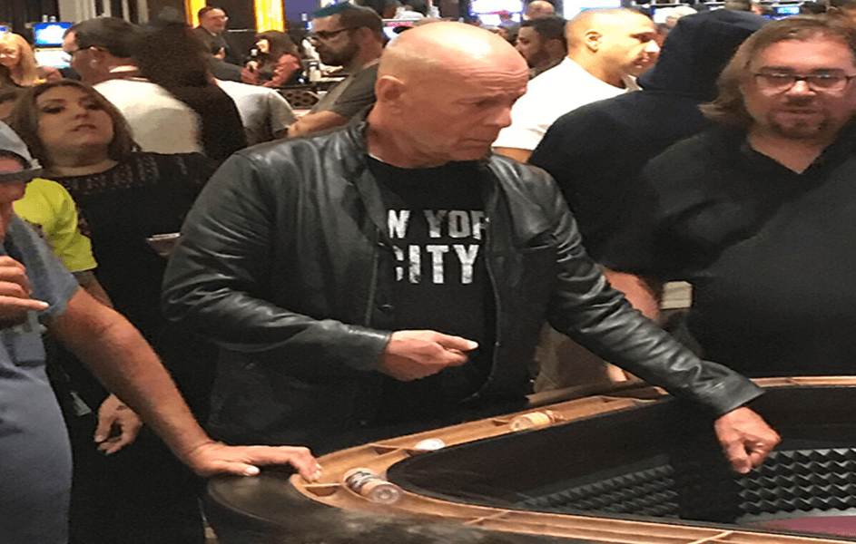 Celebrity in a casino - Bruce Willis