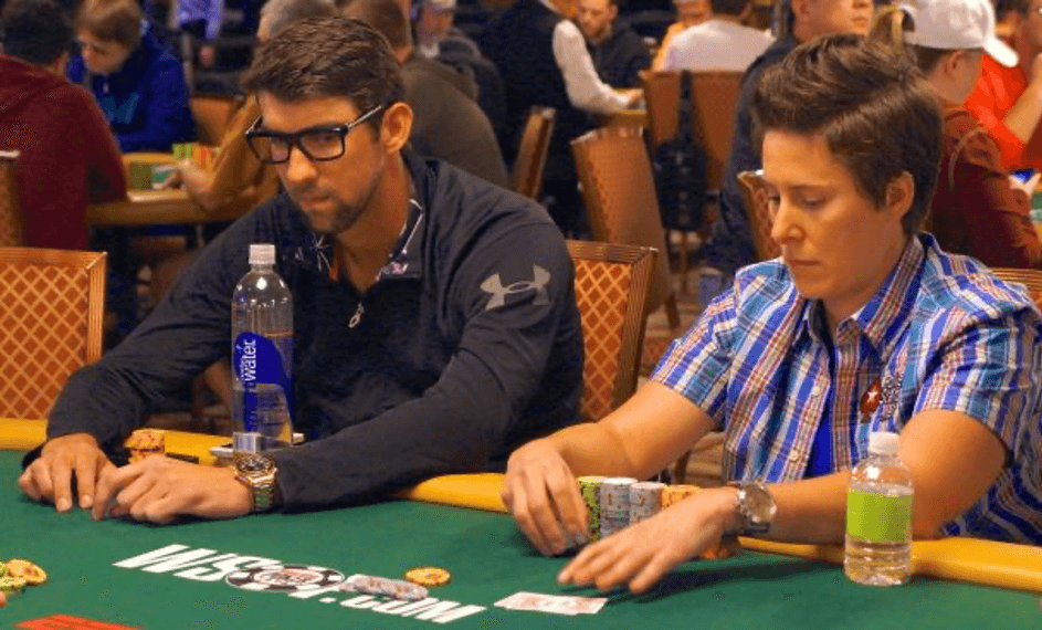 Celebrity in a casino - Michael Phelps